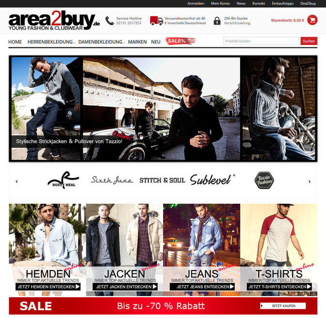 area2buy der Onlineshop für junge Mode im Test