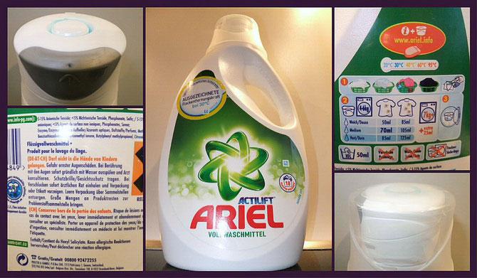 ARIEL ACTILIFT Vollwaschmittel flüssig 30° im Test