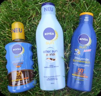 Die neuen NIVEA SUN Produkte Baby 50+, Protect & Bronze 20 und After Sun Bronze im Test