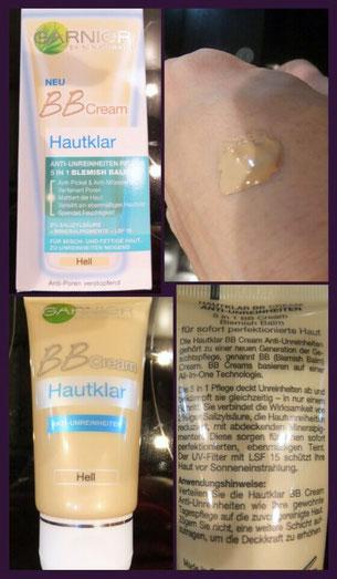 Garnier Hautklar 3in1, Gesichtswasser, BB Cream, Feuchtigkeitspflege und Reinigungspads im Test