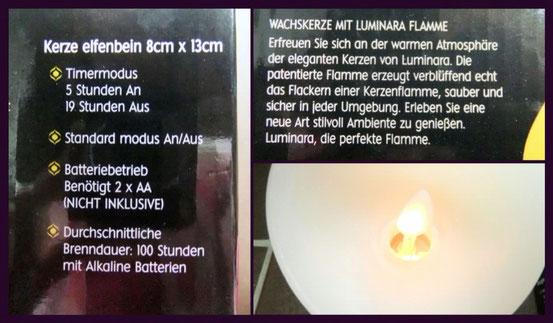 Luminara LED Kerzen mit Echtwachsmantel im Test