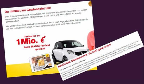 Maggi Gewinnspiel bis 31.3.2015 Jedes Maggi Produkt gewinnt!