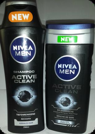 Nivea Men Active Clean Shampoo und Pflegedusche im Test