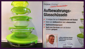 Produkttester gesucht: maxxcuisine Aufbewahrungs-Glasschüsseln (bis 30.04.14)