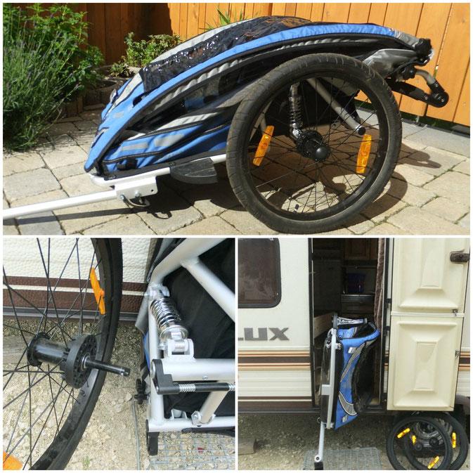 Qeridoo Fahrrad Anhänger Sportrex2 mit 2 Kindern im Test