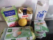 Quarkkuchen mit Stevia Zutaten