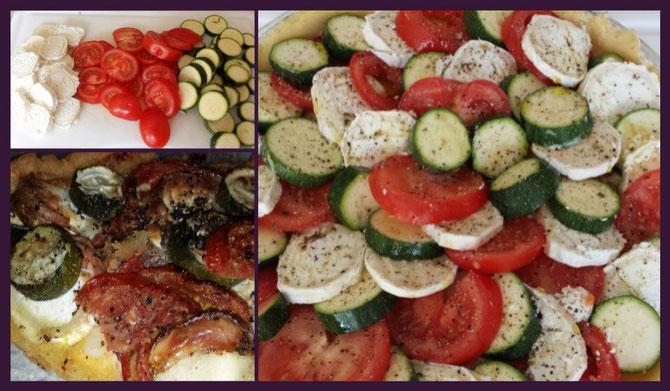 Rezept Tomaten-Zucchini-Ziegenkäse-Tarte