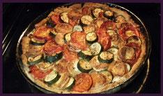 Rezept: Tomaten-Zucchini-Ziegenkäse-Tarte