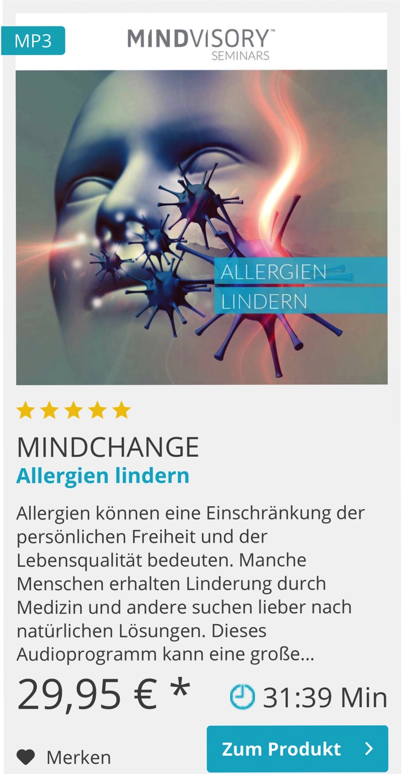 Mindvosory Allergien lindern Erfahrung
