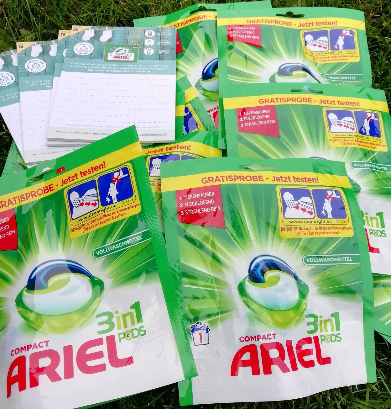 Ariel 3in1 Pods Test Erfahrung