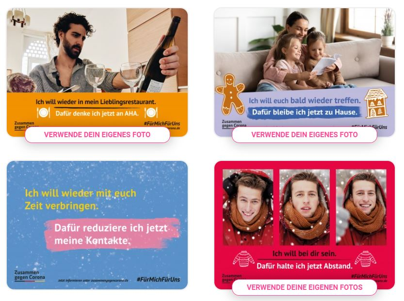 1 Million Postkarten gegen Corona #fürmichfüruns